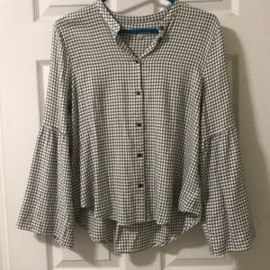 Madewell Button Down with Bell Sleeves